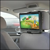 In-car DVD player with simulated car motion.
